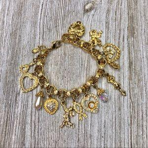 Vintage Kirks Folly Romantic Charm Bracelet